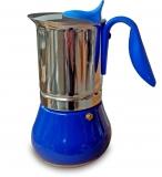 G.A.T. Allegra Espressokocher Mokkakocher für 10 Tassen, blau