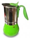 G.A.T. Allegra Espressokocher Mokkakocher für 10 Tassen, grün