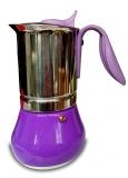 G.A.T. Allegra Espressokocher Mokkakocher für 10 Tassen, lila