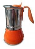 G.A.T. Allegra Espressokocher Mokkakocher für 10 Tassen, orange