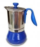 G.A.T. Allegra Espressokocher Mokkakocher für 2 Tassen, blau