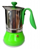 G.A.T. Allegra Espressokocher Mokkakocher für 2 Tassen, grün