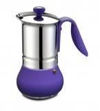 G.A.T. Allegra Espressokocher Mokkakocher für 2 Tassen, lila