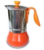 G.A.T. Allegra Espressokocher Mokkakocher für 2 Tassen, orange